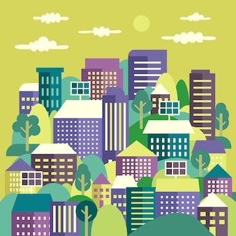 Dia mundial do habitat ilustrado