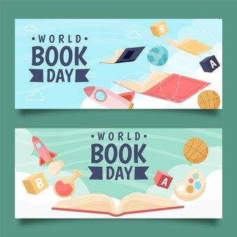Dia mundial do livro banners design