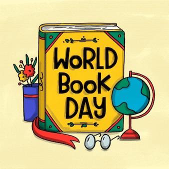 Dia mundial do livro com livro