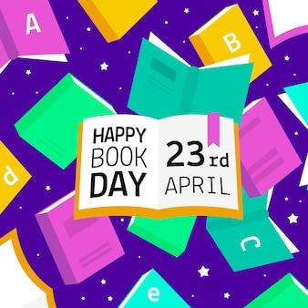Dia mundial do livro com livros coloridos