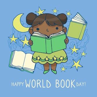 Dia mundial do livro desenho conceito