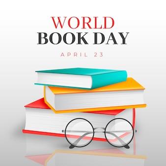 Dia mundial do livro em estilo realista