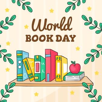 Dia mundial do livro mão desenhada