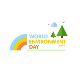 Dia mundial do meio ambiente bandeira paisagem