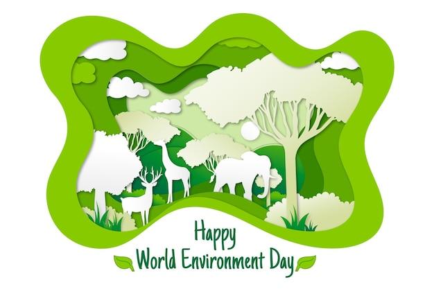 Dia mundial do meio ambiente com a natureza