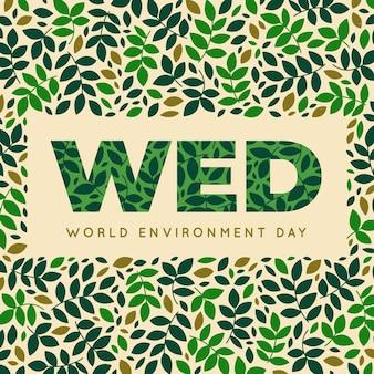Dia mundial do meio ambiente com folhas