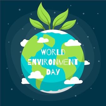 Dia mundial do meio ambiente com o planeta terra