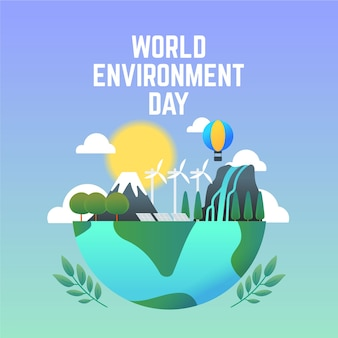 Dia mundial do meio ambiente ilustrado