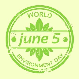 Dia mundial do meio ambiente logo stamp icon