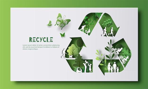 Dia mundial do meio ambiente, muitas pessoas realizando atividades, aproveitam a vida em um bom ambiente