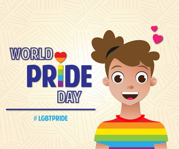 Dia mundial do orgulho lgbt girl world