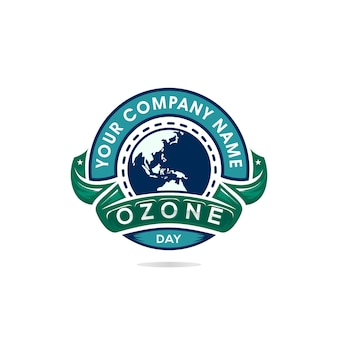 Dia mundial do ozônio com ilustração do projeto da terra