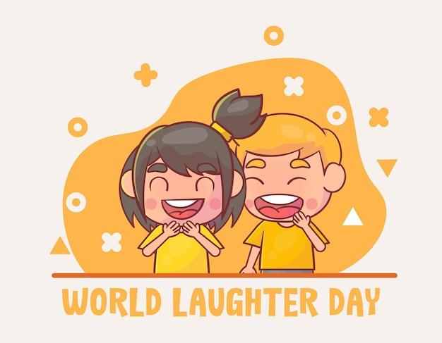 Dia mundial do riso desenhado à mão