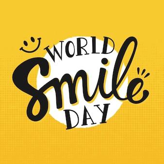 Dia mundial do sorriso - letras