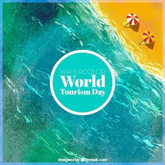 Dia mundial do turismo, cena da praia