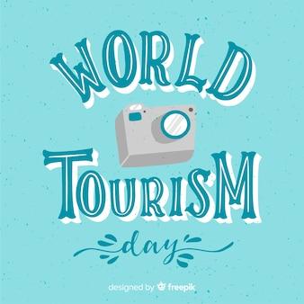 Dia mundial do turismo com câmera