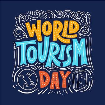 Dia mundial do turismo - conceito de letras