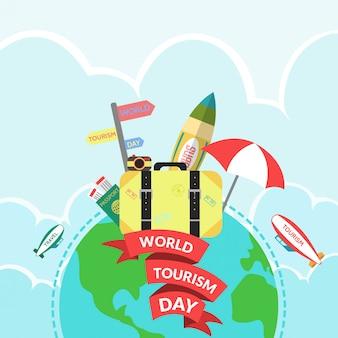 Dia mundial do turismo flat