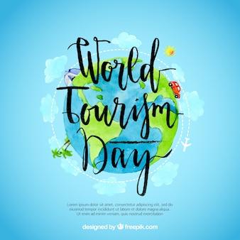 Dia mundial do turismo, o mundo pintado com aquarelas
