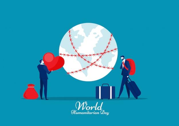Dia mundial dos migrantes refugiados. guerra e crise no país.