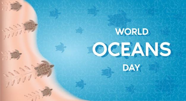 Dia mundial dos oceanos. a celebração dedicada a ajudar a proteger