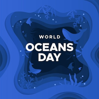 Dia mundial dos oceanos em estilo de jornal
