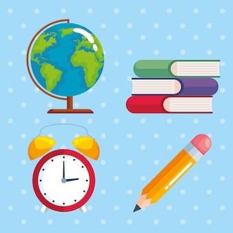 Dia mundial dos professores com ícones