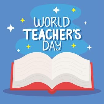 Dia mundial dos professores com livro