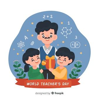 Dia mundial dos professores dos desenhos animados