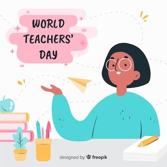 Dia mundial dos professores mão desenhada