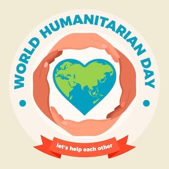 Dia mundial humanitário design plano