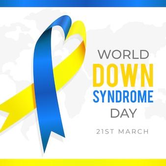 Dia mundial realista da síndrome de down Vetor grátis