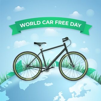 Dia mundial realista sem carro