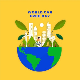 Dia mundial sem carros com o planeta