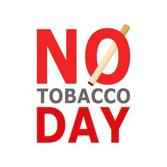 Dia mundial sem tabaco, 31 de maio. estilo dos desenhos animados