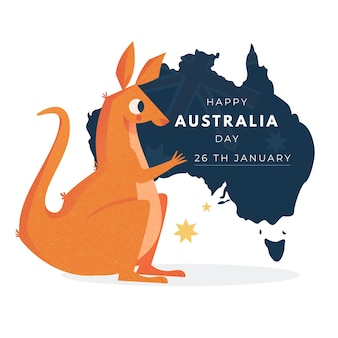 Dia nacional da austrália desenhar conceito