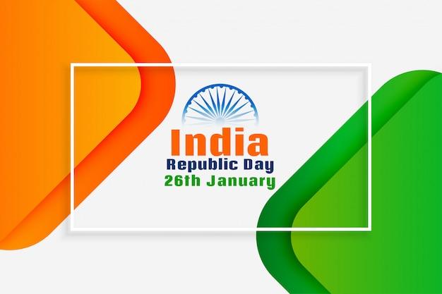 Dia nacional da república indiana design criativo