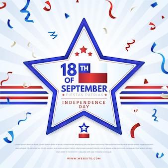 Dia nacional do chile com estrela