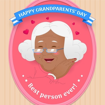 Dia nacional dos avós com a avó