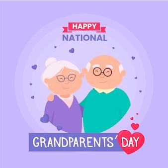 Dia nacional dos avós com casal mais velho