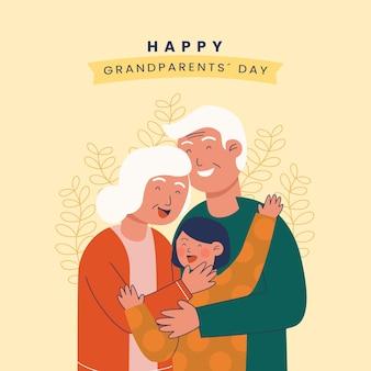Dia nacional dos avós com neto