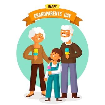 Dia nacional dos avós de design plano