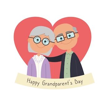 Dia nacional dos avós ilustrado