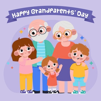 Dia nacional dos avós mão desenhada