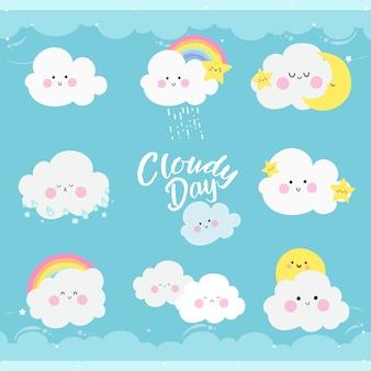 Dia nublado azul