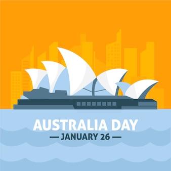 Dia plana na austrália com linha da cidade