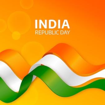 Dia realista da república da índia