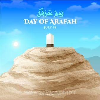 Dia realista de ilustração arafah