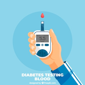 Diabetes, teste de fundo de sangue