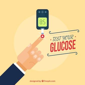 Diabetes, teste de fundo de sangue